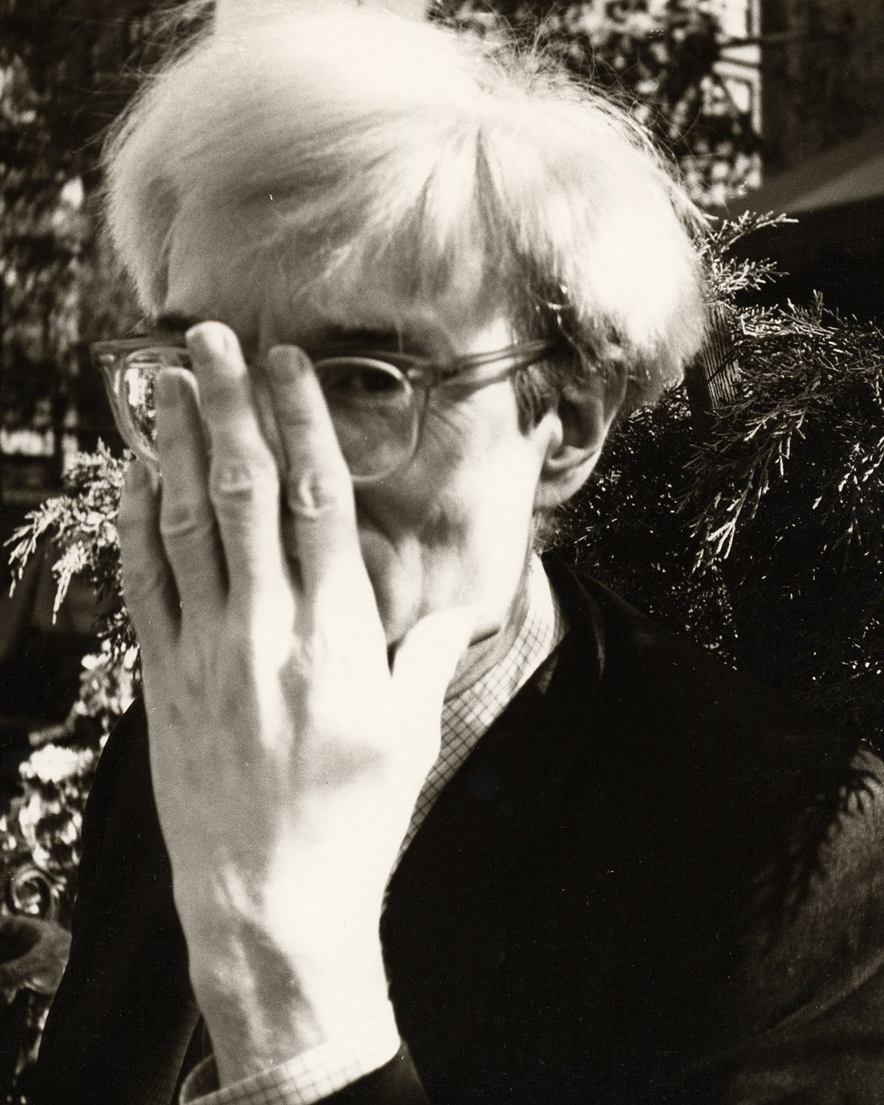 Warhol with glasses